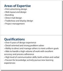 qualifications summary resumes mini resume and custom portable pocket resume