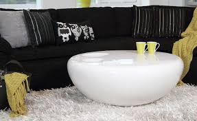apartments coffee table glossy modern round seems a bit unreal 2 tables square round