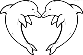 dolphin pictures for coloring 2. Plain For Dolphin Coloring Pages Download And Print For Free Inside At  Of Dolphins To Pictures 2 B