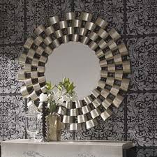 large round silver modern mirror 120cm exclusive mirrors with regard to wall plan 15 on large modern mirror wall art with bowman large round wall mirror mirrors homesdirect365 inside idea 4