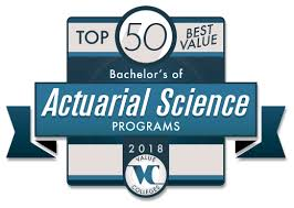 Top 50 Best Value Bachelors Of Actuarial Science Programs 2018value
