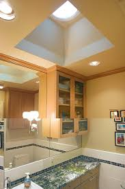 into lighting. A Tubular Skylight Can Bring Natural Light Into An Interior Bathroom With No Windows Lighting
