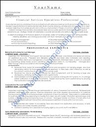 Sample Resume For Financial Services Real Resume Help Bag The Web