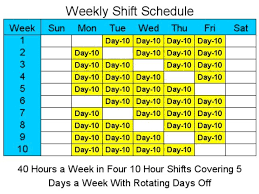 10 Hour Shift Schedule Templates 10 Hour Schedules For 5 Days A Week Standaloneinstaller Com