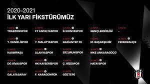 İşte Beşiktaş'ın Süper Lig 2020-2021 sezonu ilk yarı fikstürü - Fotomaç