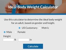 Ideal Body Weight Calculator Lovetoknow