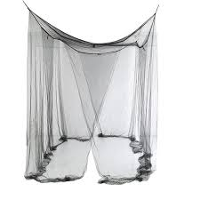 Home 4 Corner Post Bed Canopy Cover Mosquito Net Bedding or Outdoors Netting Repellent Fit Twin Full Queen King Bed Protection (White)