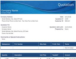 General Quote Template For Excel Microsoft Mychjp