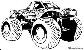 Monster Trucks Kleurplaten Kleurplateneu