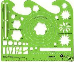 Small Picture Landscape Garden Design Template Stencil Drawing Tool eBay