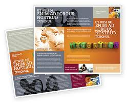 Education Brochure Templates Visual Education Brochure Template Design And Layout