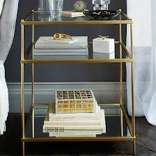 metal and glass nightstand.  and on metal and glass nightstand g