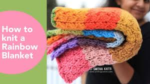 Free Afghan Knitting Patterns Circular Needles Unique Rainbow Blanket How To Knit An Afghan DIY Throw Free Knitting