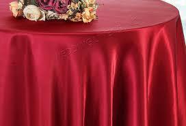 108 round satin table overlay apple red 55608 1pc pk