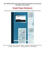 Pdf Ebook Epub Graph Paper Notebook Ebook Read Online Get