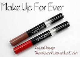 make up for ever aqua rouge waterproof liquid lip color swatches review october 16 2016 are