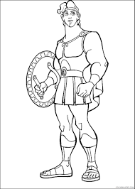 Free printable hercules coloring pages. Hercules Coloring Pages Cartoons Hercules Cl 24 Printable 2020 3332 Coloring4free Coloring4free Com
