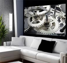 office wall stickers. Brilliant Office Clock Mechanism Wall Mural In Office Stickers