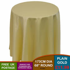 plain round light gold chipboard display bedside table tablecloth 173cm 68
