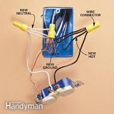 add an electrical outlet the family handyman photo 3 rewire the existing outlet