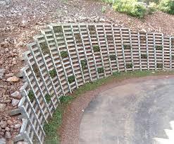 kriblok gravity retaining wall