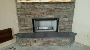 stacked stone fireplace cermic stcked fireplce veneer surround installation mantels