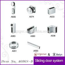 glass shower door parts