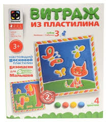 <b>Фантазер Витражный пластилин</b> 747103 <b>Набор</b> №3 | игрушки по ...