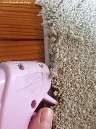 how to hot glue carpet binding