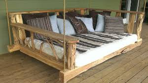 Porch Swing Bed Rustic Porch Swing Bed Dudeiwantthatcom