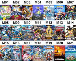 A list of every animated movie for Pokemon (except for M22), which one is  your most favorite?: pokemon