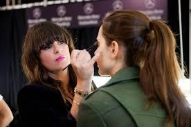 nyc artists avon celebrity makeup artist jamiemakeup backse at the dennis bo spring 2016 runway show