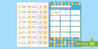 Reading Sticker Chart Emoji Themed Reading Sticker Reward Chart Y1 Home Readers