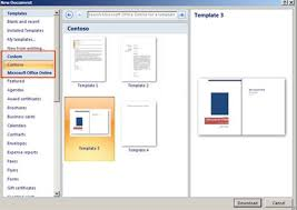 Microsoft Office 2010 Templates Deploy Custom Templates In Microsoft Office Microsoft Office Word
