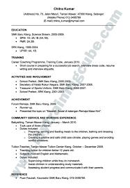 resume bahasa melayu pdf federal sample cover letter examples contoh  inggeris cara buat vector
