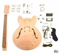 diy 335 style hollow mahogany build your own guitar kit zoom