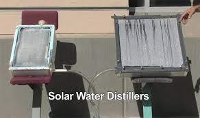 diy solar water distillers purify