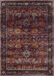 andorra updated traditional red and purple area rug contemporary area rugs by plushrugs