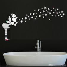 Großhandel 3d Fee Mit Magic Stars Spiegel Wand Kunst Aufkleber