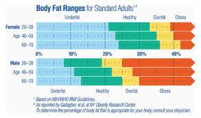 Body Fat Scale Chart Scale Body Fat