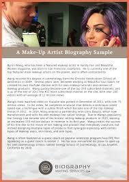 exles artist bio exle a make up artist biography