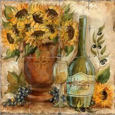 sunflower kitchen wall decor