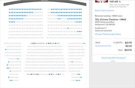 Tcl Chinese Theatre Imax Seating Chart World Of Kj View Topic Dear Excel