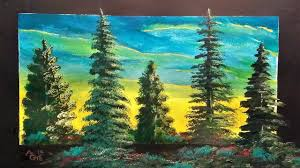 let s paint pine trees