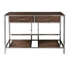modern industrial style furniture. Modern Industrial Style Chocolate Brown Wood And Smoked Metal Sofa Table For Furniture
