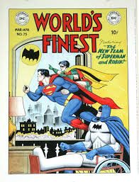 Batman world's finest robin superman gay