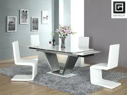glass dining table set dining room splendid white rectangle glass dining room tables with v shaped