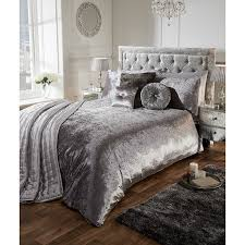luxury crushed velvet bedding versaille full face duvet set double b m 327009 327010 silver next box and curtain pink gold dunelm