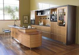 Efficiency Kitchen Modern Wooden Kitchen Designs Dark Wood Features Exposed Beam