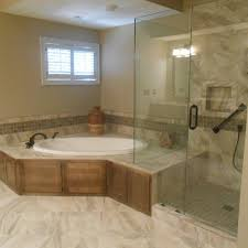 Fine Master Bathroom Floor Plans Corner Tub Renovated This Installed A Drop In With Innovation Ideas